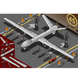 Isometric Drone Airplane Landed in Front View vector image vector image