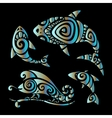 lizards polynesian tattoo style vector image