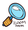 magnifying glass icon colored with a black vector image vector image