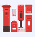 mail boxes set vintage vector image