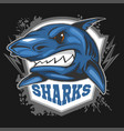 mascot sharks - emblem for a sport team vector image vector image