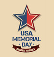 memorial day card armed forces vector image vector image