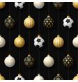 merry christmas football seamless pattern hang vector image vector image