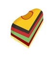 Mexican poncho icon isometric 3d style vector image vector image
