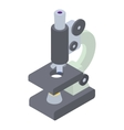 Microscope icon isometric 3d style vector image vector image