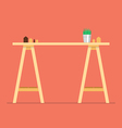 Modern office table vector image vector image