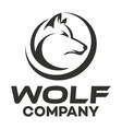 modern wolf logo vector image vector image