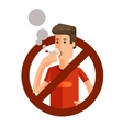 No smoking sign on white background vector image