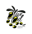 olive oil logo icon brand concept isolated vector image vector image