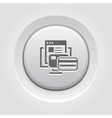 Online Payment Icon Grey Button Design vector image vector image