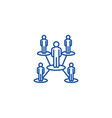 people network line icon concept people network vector image vector image