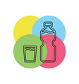 plastic water bottle drink container vector image vector image