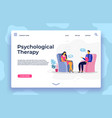 psychological therapy landing page depression vector image vector image