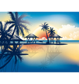 Relaxing in hammock on a tropical beach vector | Price: 1 Credit (USD $1)