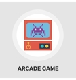 Retro Arcade Machine flat icon vector image