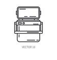 retro furniture compact picnic refrigerator line vector image vector image