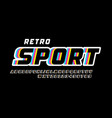 retro sport style font vector image vector image