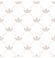 seamless pattern with crown symbol vector image