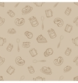 Seamless Pattern with Sweets and Desserts vector image vector image