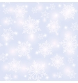 Seamless snowflakes pattern Christmas background vector image