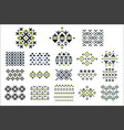 set colored seamless ornaments ethnic vector image