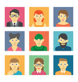 set cute character icons vector image