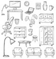 set furniture for office house and for the vector image vector image
