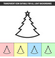 simple outline transparent christmas tree vector image vector image