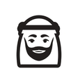 style black and white icon Arab Emirates vector image vector image