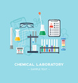 The chemical laboratory background banner cover vector image
