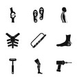 traumatology and orthopedic icon set simple style vector image vector image