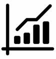 trend chart analytics vector image vector image
