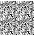 vector seamless monochrome abstract floral backgro vector image