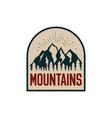 vintage hand drawn adventure logo patch vector image vector image