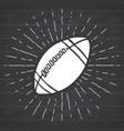 vintage label hand drawn football soccer ball vector image vector image