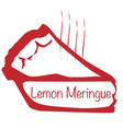 warm lemon meringue pie vector image vector image