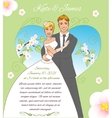 Young couple on the spring background eps10 vector image vector image