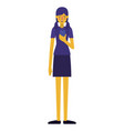 young woman with smartphone vector image vector image
