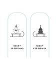 snowman and Christmas tree icons vector image