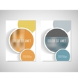 Abstract minimal geometric round circle shapes vector image
