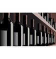 wine bottles shelf store winery vector image