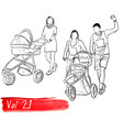 ser with silhouettes about family vector image