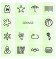 14 grunge icons vector image vector image