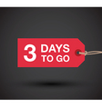 3 day left sale vector image vector image