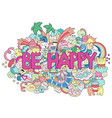 abstract background with text be happy texture vector image vector image