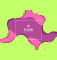 abstract fluid dynamic style banner web design vector image vector image