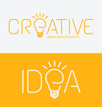 alphabet design creative idea concept with flat vector image vector image