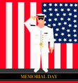american military officer salutes vector image vector image