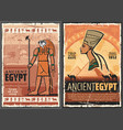 ancient egyptian pharaoh sphinx horus nefertiti vector image