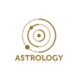 astrology logo design for science isolated